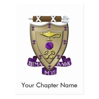 Sigma Alpha Mu Crest Postcard
