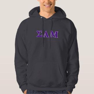 Sigma Alpha Mu Purple Letters Hoodie