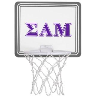 Sigma Alpha Mu Purple Letters Mini Basketball Hoop