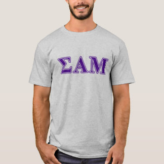 Sigma Alpha Mu Purple Letters T-Shirt