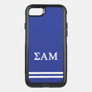 Sigma Alpha Mu | Sport Stripe OtterBox Commuter iPhone 8/7 Case