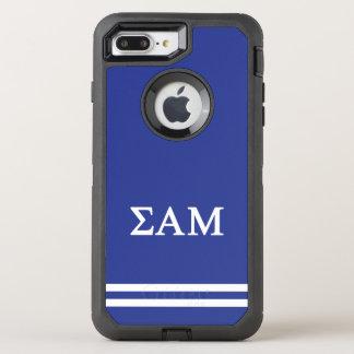 Sigma Alpha Mu | Sport Stripe OtterBox Defender iPhone 8 Plus/7 Plus Case
