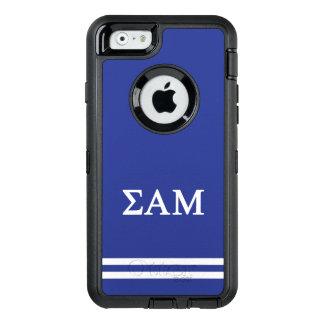 Sigma Alpha Mu | Sport Stripe OtterBox Defender iPhone Case