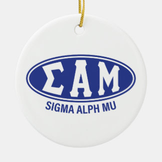 Sigma Alpha Mu | Vintage Round Ceramic Decoration