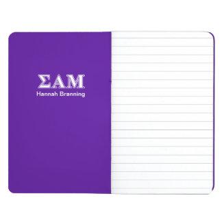 Sigma Alpha Mu White and Purple Letters Journal