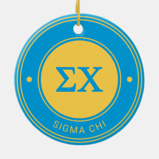 Sigma Chi   Badge Christmas Ornament