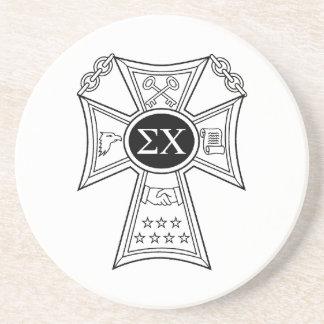 Sigma Chi Badge Coaster