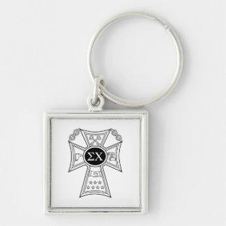 Sigma Chi Badge Key Ring