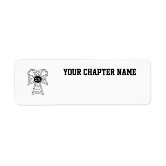 Sigma Chi Badge Return Address Label