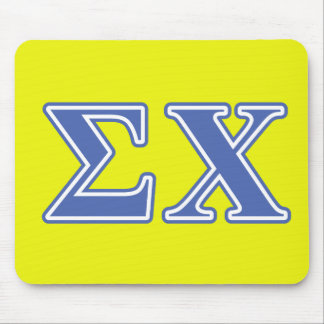 Sigma Chi Blue Letters Mouse Mat