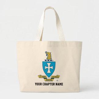 Sigma Chi Crest Logo Large Tote Bag