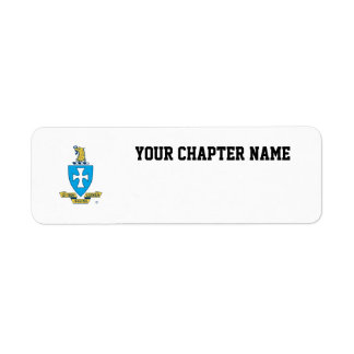 Sigma Chi Crest Logo Return Address Label