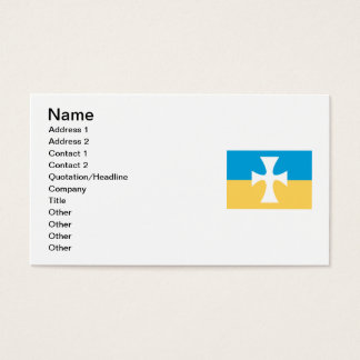 Sigma Chi Flag Business Card