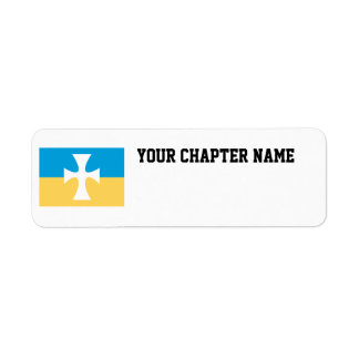 Sigma Chi Flag Return Address Label