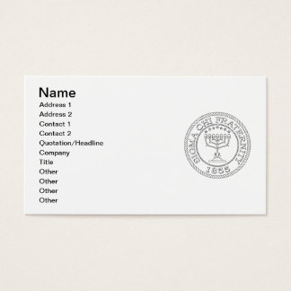 Sigma Chi Grand Seal B+W Business Card