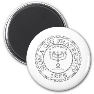 Sigma Chi Grand Seal B+W Magnet