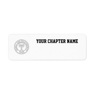 Sigma Chi Grand Seal B+W Return Address Label