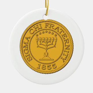 Sigma Chi Grand Seal Color Christmas Ornament