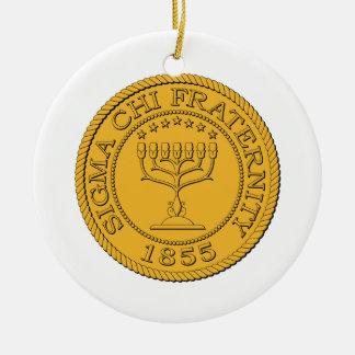 Sigma Chi Grand Seal Color Christmas Ornament