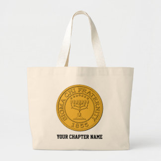 Sigma Chi Grand Seal Color Large Tote Bag