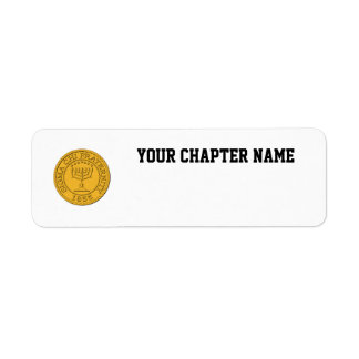 Sigma Chi Grand Seal Color Return Address Label