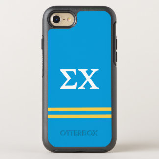 Sigma Chi | Sport Stripe OtterBox Symmetry iPhone 7 Case