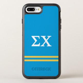 Sigma Chi | Sport Stripe OtterBox Symmetry iPhone 8 Plus/7 Plus Case