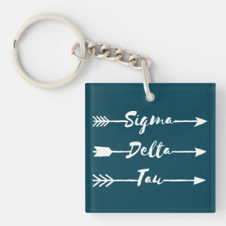 Sigma Delta Tau | Arrow Key Ring