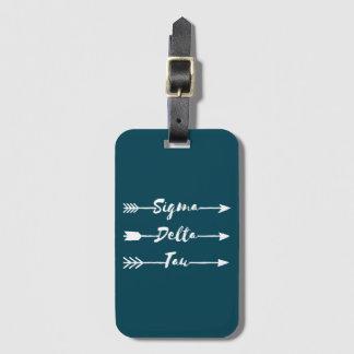 Sigma Delta Tau | Arrow Luggage Tag