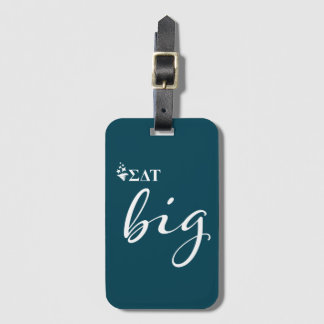 Sigma Delta Tau | Big Script Luggage Tag
