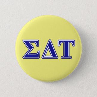 Sigma Delta Tau Blue Letters 6 Cm Round Badge