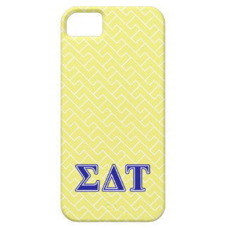 Sigma Delta Tau Blue Letters Barely There iPhone 5 Case