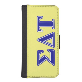 Sigma Delta Tau Blue Letters iPhone SE/5/5s Wallet Case