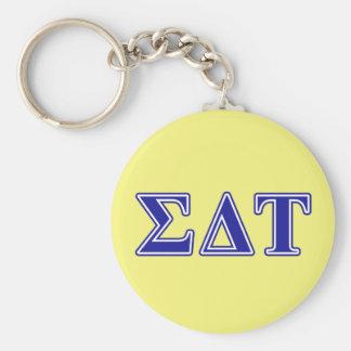 Sigma Delta Tau Blue Letters Key Ring