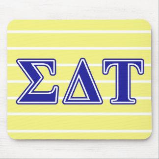 Sigma Delta Tau Blue Letters Mouse Pad