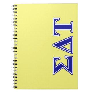 Sigma Delta Tau Blue Letters Notebook