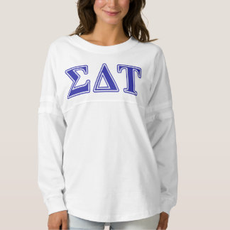 Sigma Delta Tau Blue Letters Spirit Jersey