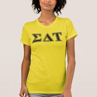 Sigma Delta Tau Blue Letters T-Shirt