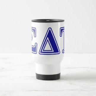 Sigma Delta Tau Blue Letters Travel Mug