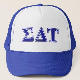 Sigma Delta Tau Blue Letters Trucker Hat