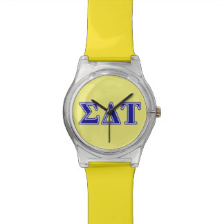 Sigma Delta Tau Blue Letters Watch