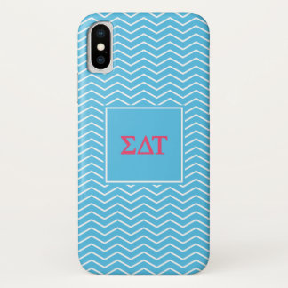 Sigma Delta Tau | Chevron Pattern iPhone X Case