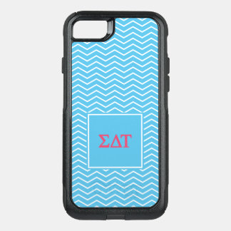 Sigma Delta Tau | Chevron Pattern OtterBox Commuter iPhone 8/7 Case