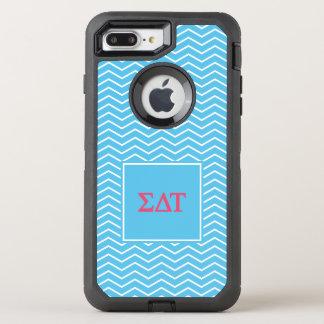 Sigma Delta Tau | Chevron Pattern OtterBox Defender iPhone 7 Plus Case