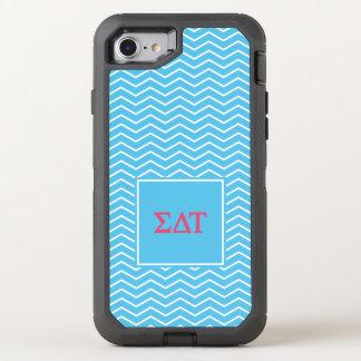 Sigma Delta Tau | Chevron Pattern OtterBox Defender iPhone 8/7 Case