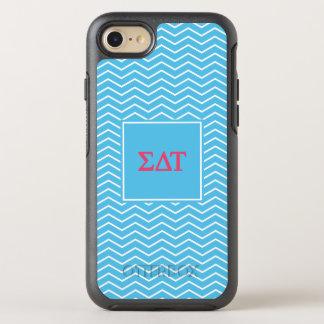 Sigma Delta Tau | Chevron Pattern OtterBox Symmetry iPhone 8/7 Case