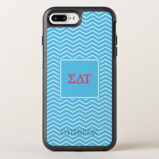 Sigma Delta Tau | Chevron Pattern OtterBox Symmetry iPhone 8 Plus/7 Plus Case
