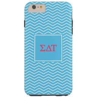 Sigma Delta Tau | Chevron Pattern Tough iPhone 6 Plus Case