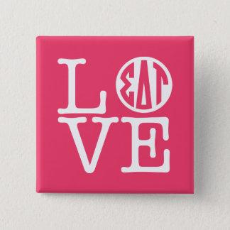 Sigma Delta Tau | Love 15 Cm Square Badge