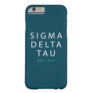 Sigma Delta Tau | Modern Type Barely There iPhone 6 Case
